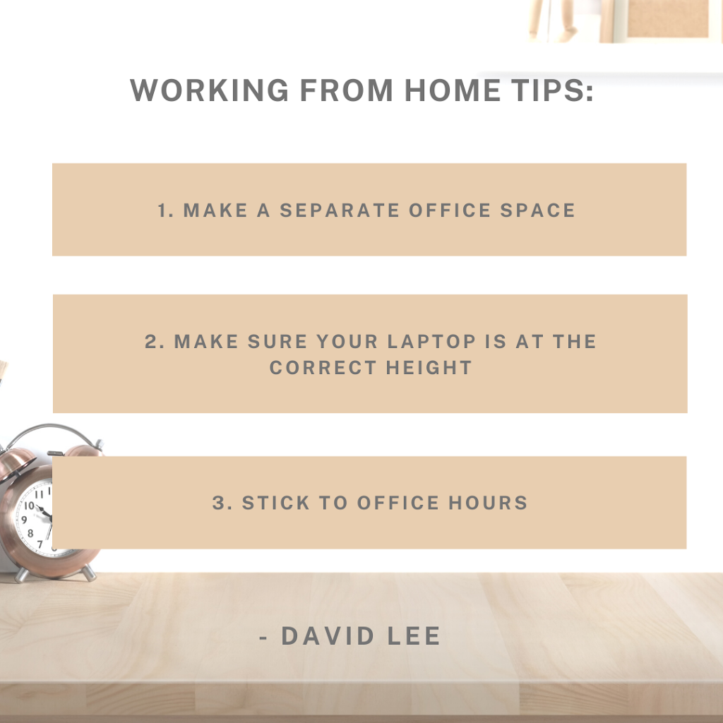 Working from home tips: David Lee, CPD Online College